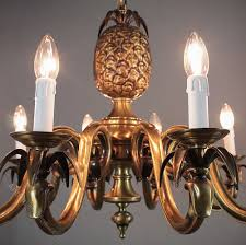 vintage brass pineapple chandelier