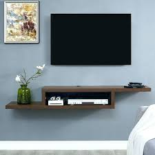 wall mounted shelves for cable box ascend pertaining to mount component shelf idea 16