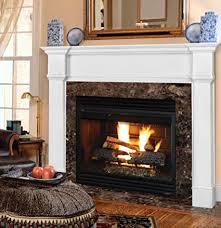 White fireplace mantel surround Shaker Style Image Unavailable Amazoncom Amazoncom Pearl Mantels 55048 Richmond Fireplace Mantel Surround