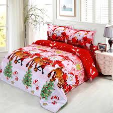 comforter set in red