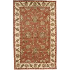 dynamic rugs charisma rust ivory 8 ft x 11 ft indoor area rug