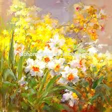 flower oil painting on canvas modern abstract canvas flowers oil painting for living room flower vase