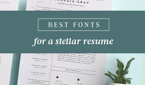 Good Resume Fonts Adorable Good Fonts For Resume Engneeuforicco