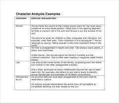 sample character analysis template documents in pdf word character analysis example