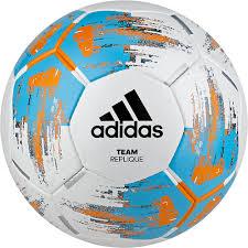 <b>Мяч футбольный Adidas Team</b> Replique, CZ9569, белый, голубой ...