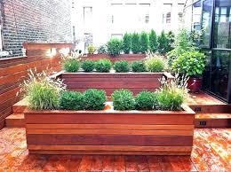 novelty garden planters deck contemporary with design metal wall planter boxes patio g