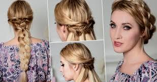 Modele De Coiffure Pour Mariage Cheveux Un Chignon Tresse