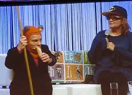 Department of film and television studies. Warwick Davis Carrie Fisher Reenact Wicket Intro From Return Of The Jedi Topless Robot