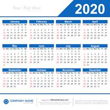 Template For 2020 Calendar 2020 Calendar Template