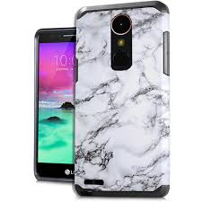 LG K20 Plus - Slim Case Style 2 Marble White :: CellPhoneCases.com