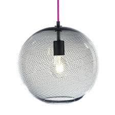 hand blown glass pendant keep cane globe light charcoal track lights nz