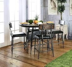 counter height table industrial style round counter height table set counter height dining table sets with