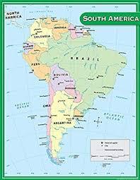 Amazon Com Teacher Created Resources South America Map