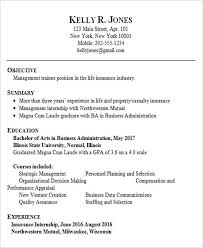 Example Of Resume Format For Fresh Graduate