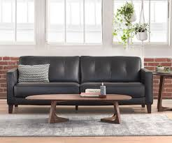 modern leather sofa. Midcentury Modern Leather Sofa R