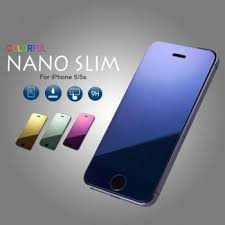 nano color tempered glass mirror screen protector for iphone 5 5s