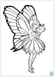 Barbie Fairy Coloring Pages Inviting With Regard To 3