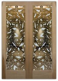 spatter positive frosted glass doors