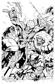 Small Picture Free coloring page coloring adult comics spiderman wolverine