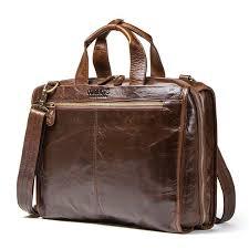 details about men s vintage laptop bags portfolio briefcase genuine leather messenger handbags