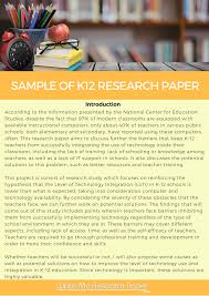 k research paper writing   sample of k12 research paper