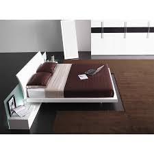 Platform Bedroom Furniture Aron White Platform Bed White Bed Contemporary Bedroom Furniture