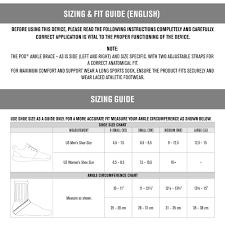 Pod Size Chart Donjoy Pod Ankle Brace