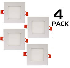 Recessed Lighting No Housing Westgate Lighting 9w 4 Inch Ultra Slim Square Shaped Led Retrofit Recessed Lighting Downlight Dimmable Led Ceiling Light Fixture For Home Office