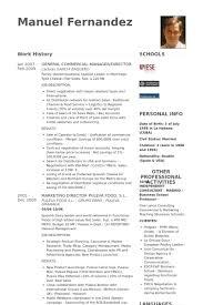 General Commercial Manager/Director Resume samples