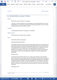 Policy Manual Template Hr Manual Template 6 Free Word Pdf Document ...