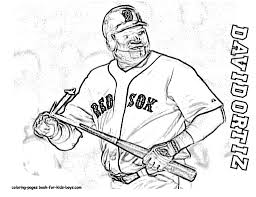 Small Picture Coloring Pic Baseball Player David Ortiz Pages Book For Bebo Pandco