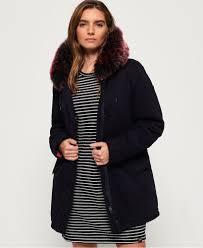 hawk coloured faux fur parka jacket