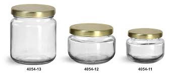 clear glass jars clear glass wide mouth jars w gold metal plastisol lined lug