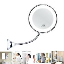 10x magnifying mirror led lighted makeup mirror magnifying degree swivel wall mount day light 10x magnification