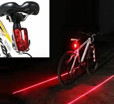 Details About 5 Led 2 Laser Bike Bicycle Light Rear Tail Flashing Safety Warning Lamp Night Ft