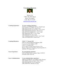 Soccer Resume Example Football Coachumesume Examples Template Vesochieuxo Soccer Templates 10