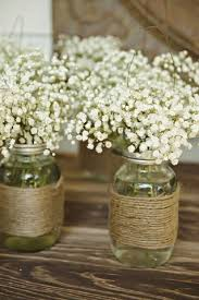 Wedding Decor With Mason Jars Shabby chic wedding decor centerpiece mason jars simple table 74