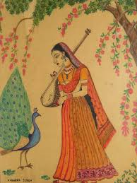 form of indian folk art in painting by vidushi singh