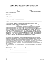 Liability Waiver Form Template Free 004 Liability Waiver Form Template General Release Of