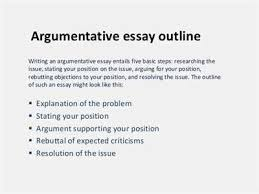 argumentative synthesis essay outline