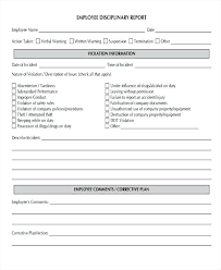 Disciplinary Forms For Employees Free Employee Action Form Template Majeste Info