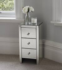 mirror bedside table. venetian mirrored glass bedside table with three drawers and handles mirro mirror