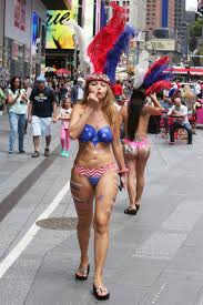 Desnudas have gone wild in Times Square New York Post