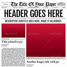 Newspaper Template For Photoshop Psd Newspaper Template Under Fontanacountryinn Com