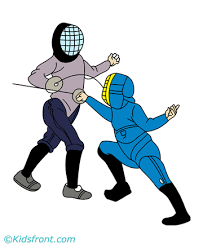 Youth Fencing Coloring Pages For Kids To Color And Print