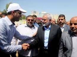 gaza strip rand ismail haniyeh newly elected head of hamas political office arrives to a