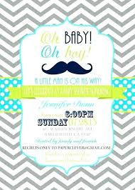 Easy Invitation Templates Mustache Baby Shower Invitations Template Vseodiete Info