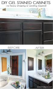 Diy Gel Stain Cabinets No Heavy Sanding Or Stripping Maison De Pax