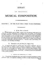 an essay on practical music composition kollmann us  an essay on practical music composition kollmann us frederic christopher streaming internet archive