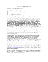 Internal Promotion Resume Resume For Your Job Application